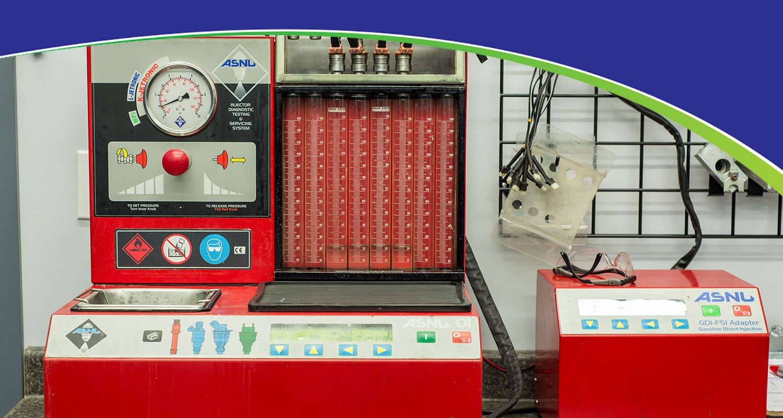 Injector Diagnostic Testing & Servicing System