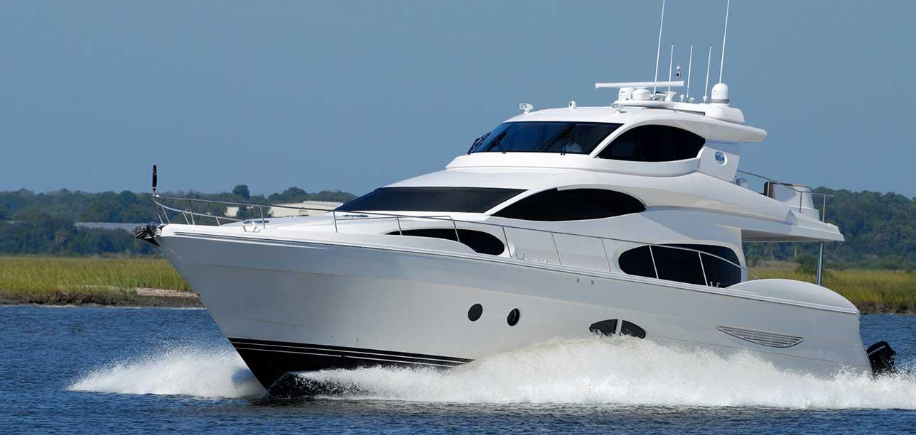 diesel boat in water featured image for winterize marine diesel article