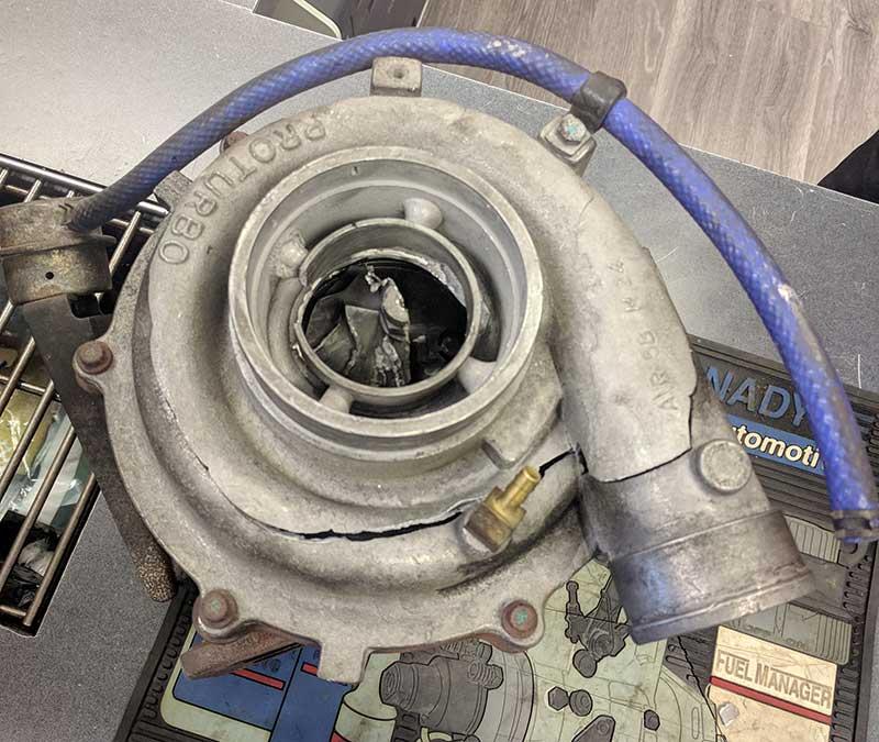 turbocharger failure