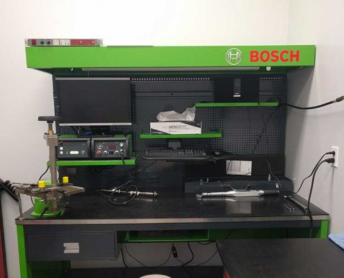 bosch clean room testing bench