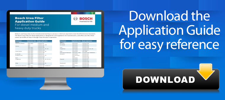 Bosch Urea Diesel Filter application guide