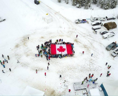 nw fuel at scouts camp with canadian flag
